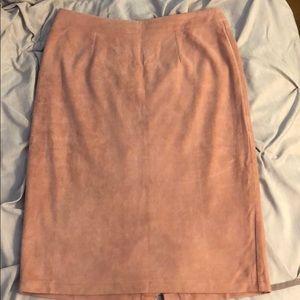 Lulu's Faux suede knee length pencil skirt